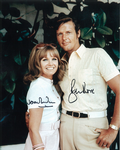 Sir Roger Moore and Jennie Linden hand signed Autograph comes with COA - 10287